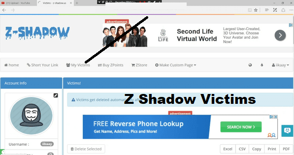 Z shadow Victims